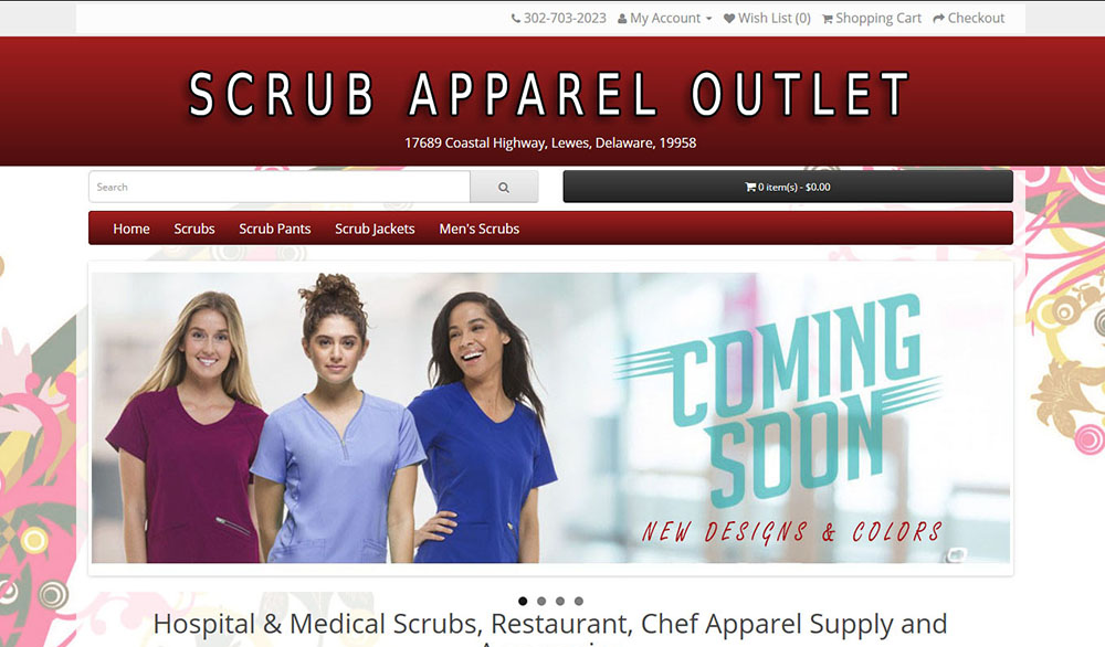 Scrub Apparel Outlet